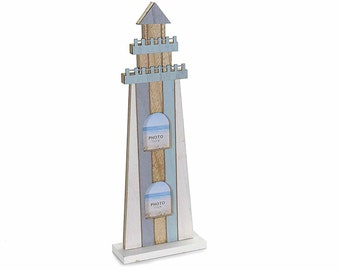 Lighthouse Picture Frame Painted Wood
