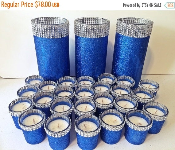 Royal Blue Wedding Centerpieces: ON SALE Royal Blue Centerpieces Table By EverydayDesignEvents