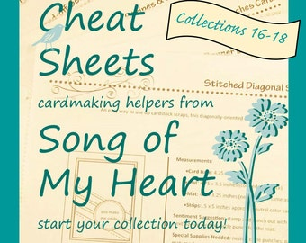 Cheat Sheets (16-18) Continuing Collection: Instant Digital Download