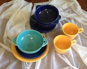 Set of 3 cream soup bowl by Fiesta