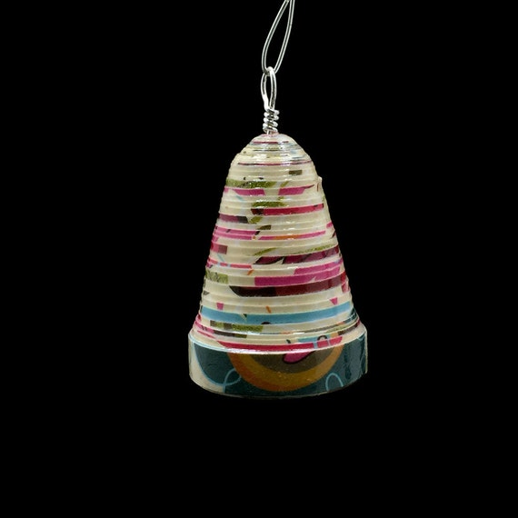 Christmas Bell Ornament Paper Bead Jingle Bell Keepsake