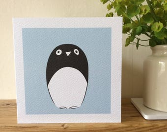 Penguin greeting card.