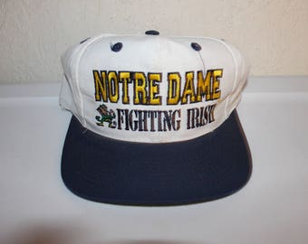 Vintage 90's University of Notre Dame Fighting Irish Snapback by Logo Athletic