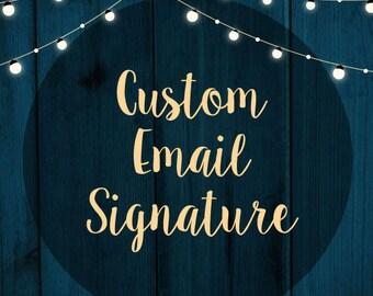 Custom HTML Email Signature Design, HTML signature, Graphic Design, Signature Design, Custom Design, Custom Email Signature