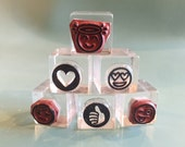 acrylic stamp blocks, planner icon stamps, acrylic blocks, stamp handle, acrylic stamping block, clear blocks, clear plastic block, 3/4 cube