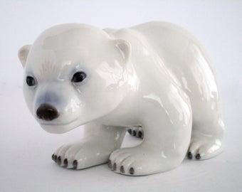 Royal Copenhagen Denmark Baby Polar Bear Figurine 535, Vintage Decorative Tableware