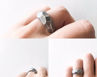 "Ring ""Gabro"" Collection - Sterling Silver"