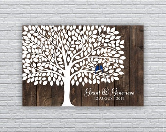 Wedding Guest tree (250 Leaf) print 24x36, Rustic Wedding Art Print, Wedding Guest Book Alternative, Wedding Personalized, INSTANT DOWNLOAD