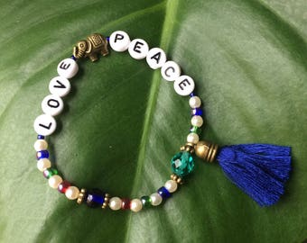 Bracelet Love and peace