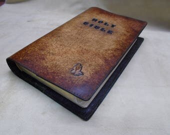 leather Bible cover, custom Bible cover, leather book cover, custom leather book cover