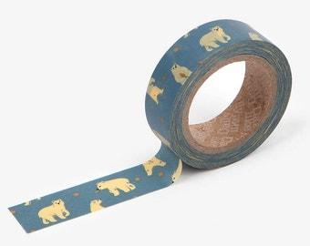 Friendly bear | DailyLike Korean Washi Tape Craft Supplies (DMT1S53)