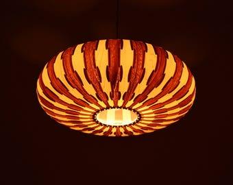 Unique Umbrella Hanging Pendant Light,made of real maple and walnut veneer,Eco-friendly,design lamp,dining room light,ceiling light,Lighting