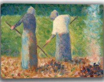Georges Seurat: Haymakers at Montfermeil. Fine Art Canvas. (04042)