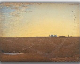 J.M.W. Turner: Stonehenge - Twilight. Fine Art Canvas. (04151)