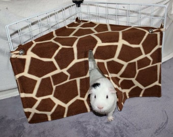 Custom made to order small animal corner hide (rat, guinea pig, ferret, degu, chinchilla)
