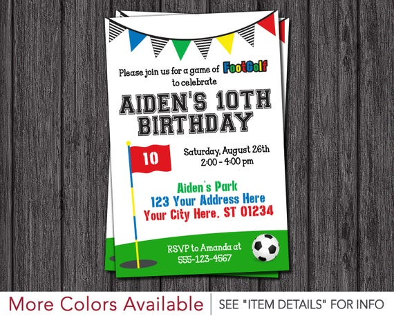 Footgolf birthday invitation soccer golf birthday invitations il570xn filmwisefo