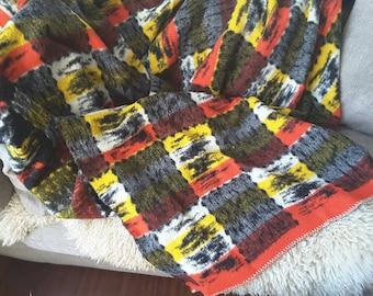 Sale of 35.00 for 29.75 euro. Vintage Woolen Blanket 60s