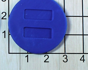 Pause Button Fondant Cookie Cutter and Stamp #1542