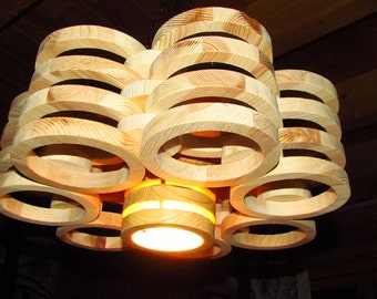"""Wood lamp - hanging lamp-Scandinavian style """"Lahti"""""""