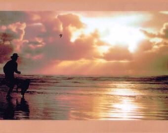 NIKE Jogging Beach Poster - FREE Shipping