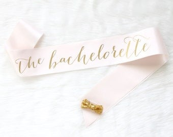 Rose and Gold Bachelorette Sash -Bachelorette Party - Bride Gift - Bride Sash - Bridal Shower