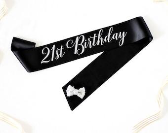 21st Birthday Sash - 21st Sash - 21st Birthday Party - Finally 21 - Birthday Sash - Birthday Party Sash