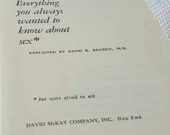 1969 First Edition Everything You Wanted to Know about Sex