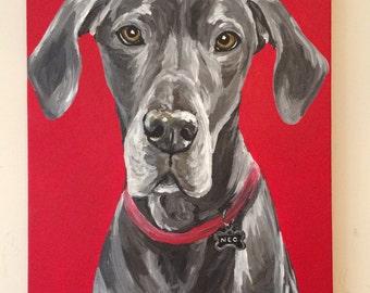 Custom Pet Painting, Dog Painting, Cat Painting, Pet Painting, Custom Dog Painting