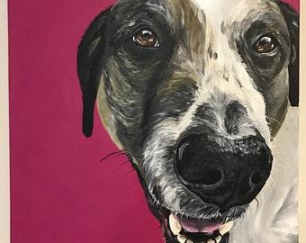 Custom dog painting, Pet portrait, Custom pet portrait, custom dog painting, custom dog portrait, dog painting