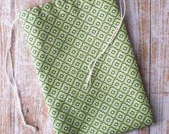 Green drawstring 4x6 fabric bags 10pcs