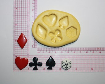 Playing Cards Silicone Mold Candy Chocolate Fondant Resin Soap Mold Food Safe Mold