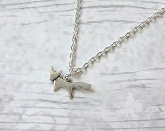 fox necklace, woodland necklace, animal jewellery, autumn jewelry,  gifts for her, animal necklace, stocking filler, mothers day