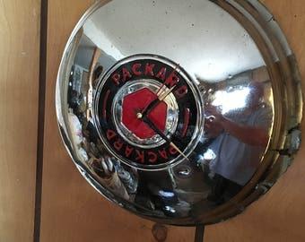Vintage 1948 PACKARD Hubcap Clock