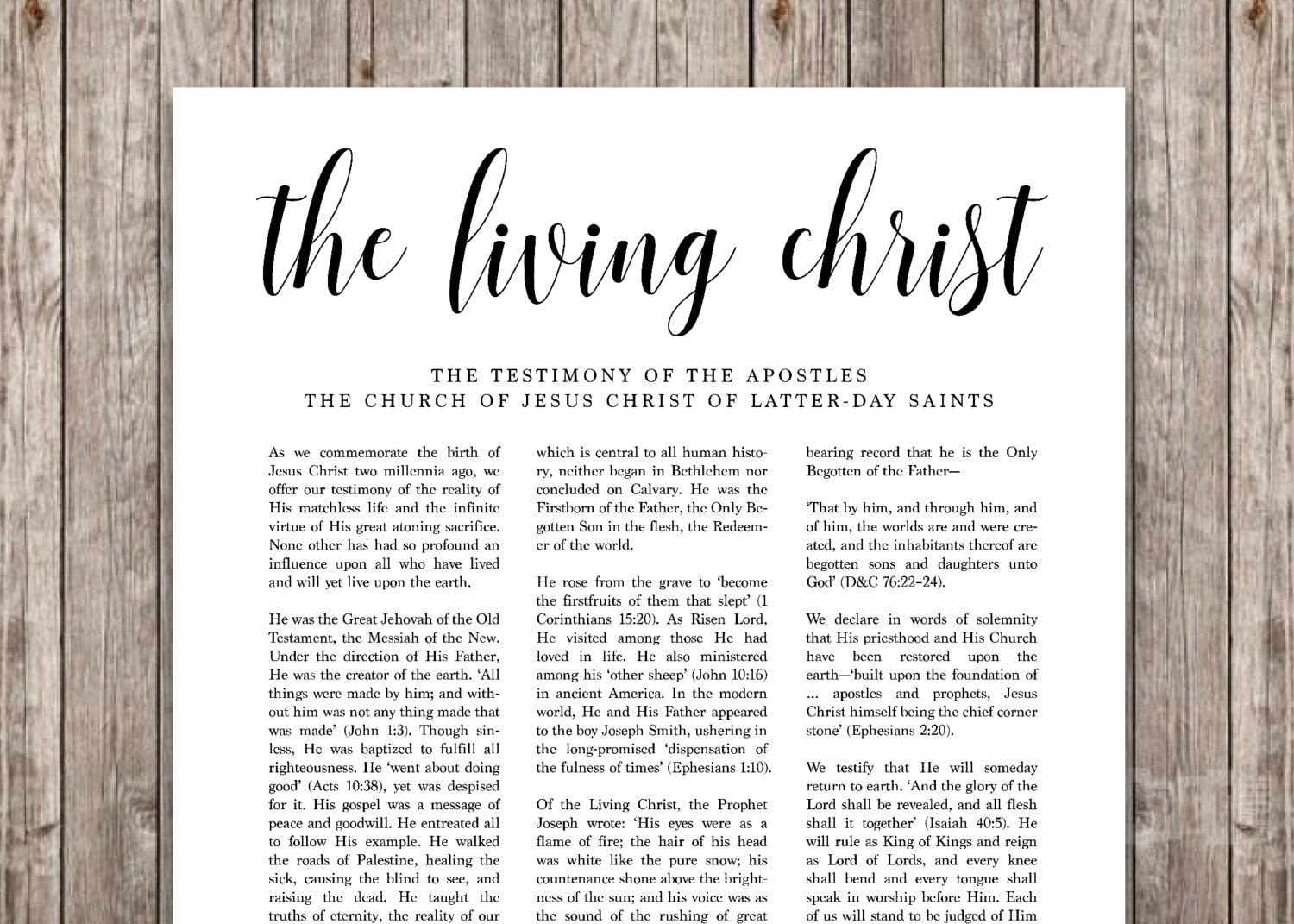 It's just a graphic of Peaceful The Living Christ Free Printable