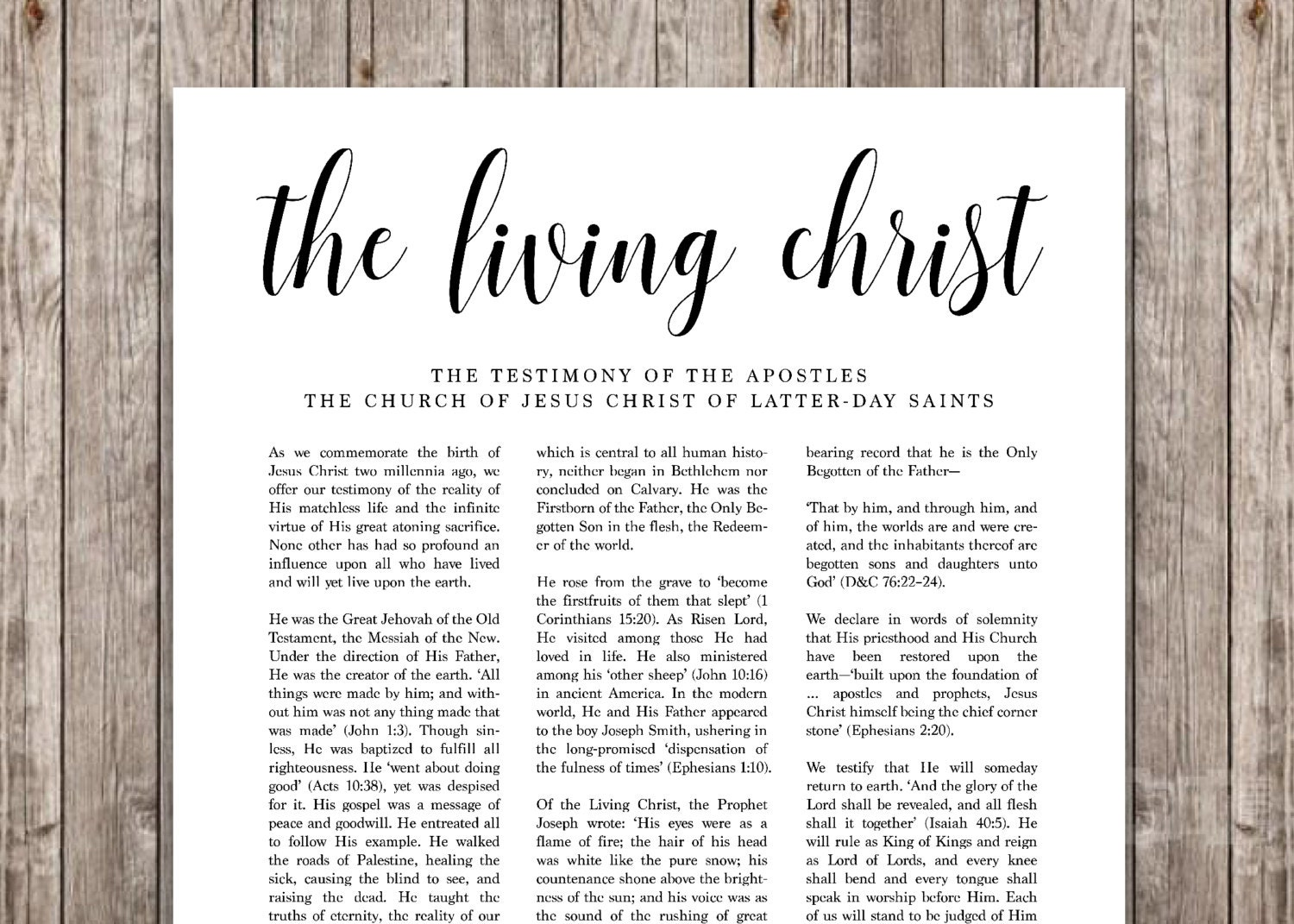 It's just a picture of Nerdy The Living Christ Printable