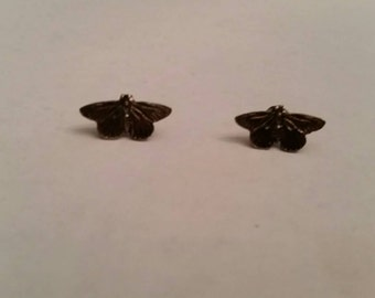 Vintage Butterfly Sterling Silver Earrings 925 Spring