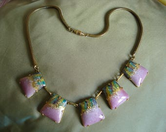 Enamel necklace.