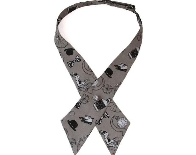 Gentlemens Club Stone Adjustable Crossover Bow Tie