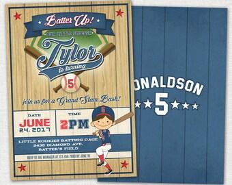 Baseball Invitation / Baseball Birthday Invitation / Vintage Baseball Birthday Invitation