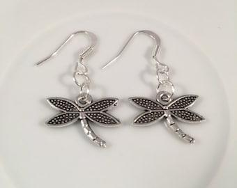 Drangonfly earrings, earrings, dragonfly