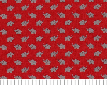 Fabric Finders Print #1883 Gray Elephant Fabric – Small, Alabama elephant print fabric, small gray elephant fabric for sewing quilting