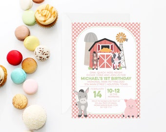 Farm Birthday Invitation | Farm Invitation | Farm Party Printable Invite | Petting Zoo Invitation | Farm Theme Party | Printable Invitation