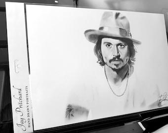 Johnny Depp pencil drawing