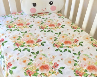 Baby Cot / Crib Fitted Sheet BoHo Floral