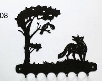 Hangs key pattern metal: the Crow and the Fox