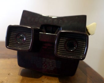 Vintage Bakelite View Master Stereoscope with Back Light  Model E All Working - Made in Belgium by Sawyers between 1955 and 1961.