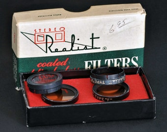Stereo Realist Filter Set In Original Box 4 Stereo Realist Camera NiCE !