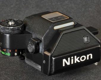 Nikon F2 DP-2 Viewfinder Collectible Nikon SLR Camera w Nikkor Lenses NiCE !
