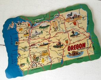 Vintage Oregon postcard