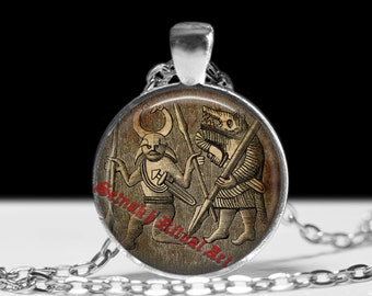 Viking jewelry, Berseker pendant, Norse warrior, necklace #439